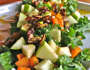 Autumn Salad with Spiced Pumpkin Seeds