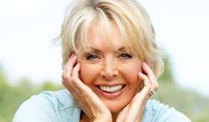 Woman smiling free of hot flushes