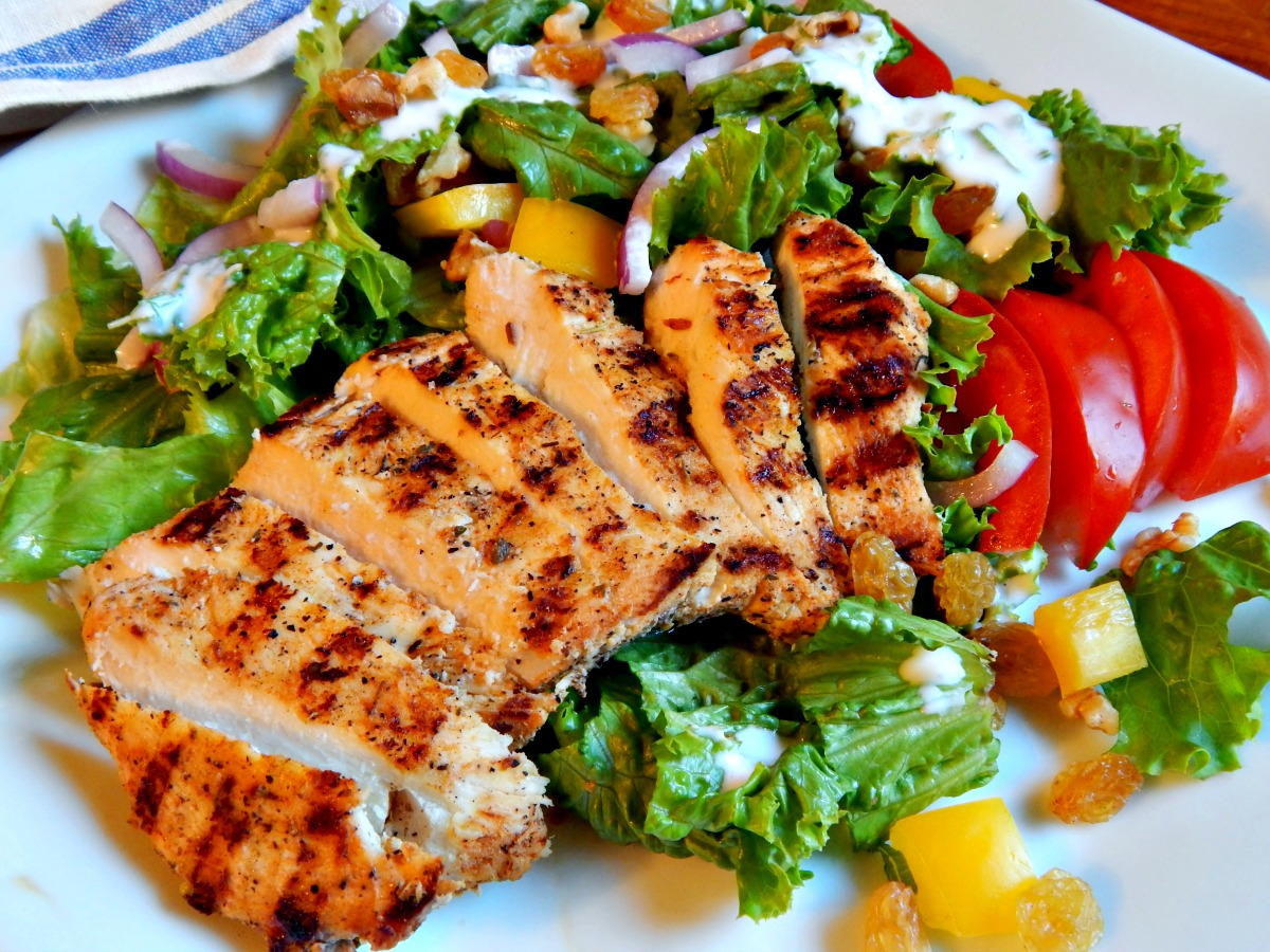 Tasty chicken salad used on weight loss diet