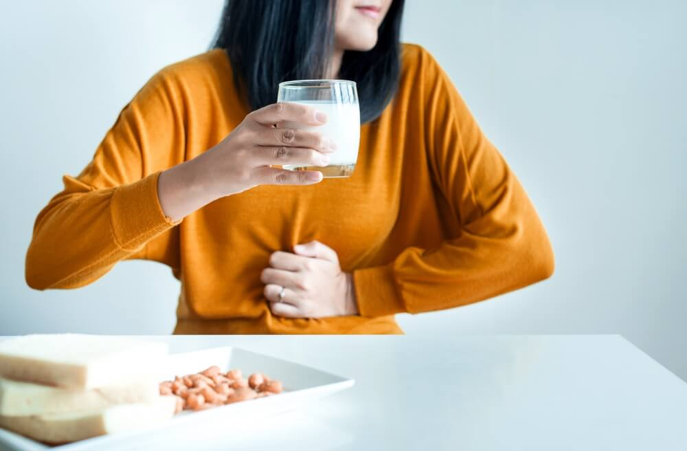 Lactose intolerance digestive discomfort